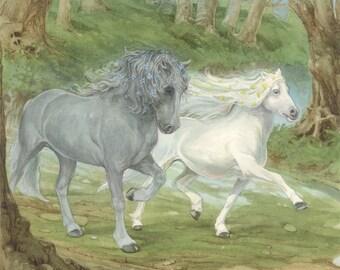 Enchanted Horses Signed Print