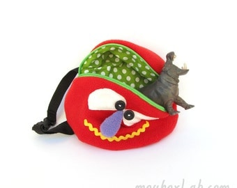 Funny fanny pack Monster waist pouch Waist zipper pouch for kids - READY TO SHIP