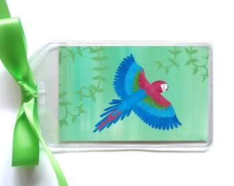 Parrot Luggage Tag - Safari Macaw Bag Tag
