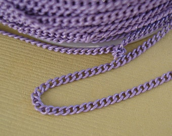 Lilac Electroplated  Twist  Curbe Chain Colored Chain-15 ft.