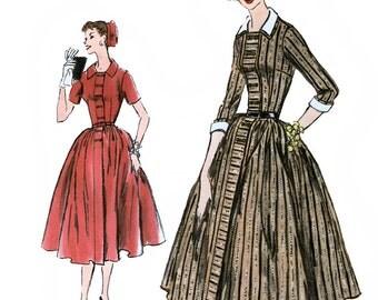 Vogue 9000 Vintage 50s Misses' One Piece Dress Sewing Pattern - Unused - Size 14 - Bust 34