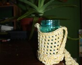 Crochet Water bottle, phone, wallet, or Chalice holder with free shipping