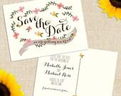 SHARE the LUCK SALE Diy Printable Carolina Save the Date Postcard