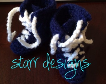 PATTERN!! Newborn Wrestling Shoe booties Crochet Pattern