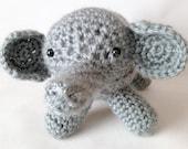 Emeril, plush elephant toy, animal stuffed plushie, crochet amigurumi