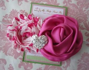 Valentines headband - girl headbands - baby headbands - valentines day