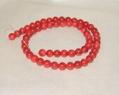Red Coral Beads,Red Bamboo Coral Beads,7mm red coral beads,7mm red bamboo coral,Christmas Red Beads,Christmas gift,Valentine red Beads,
