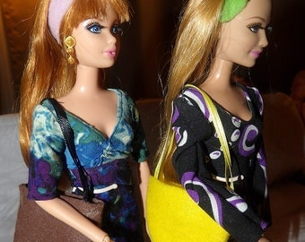 Accessory Set - 2 purses, 2 belts / headbands, 1 pair of shoes for Fashion Dolls - as3