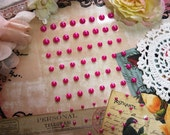 72 Self Adhesive Pearls in Hot Pink For Scrapbooking Mini Albums Paper Crafts Tags Cards and DIY