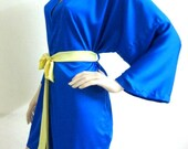 Kimono Robe in Silk Satin - HANDMADE TO ORDER Gift for Her Loungwear Valentine Day Anniversary Wedding Bridal Shower Nightgownesmaid Robes