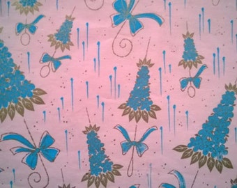 Vintage Wedding Bridal Shower Blue Forget Me Not Umbrella Gift Wrapping Paper