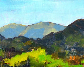 Mountains in Temecula landscape painting