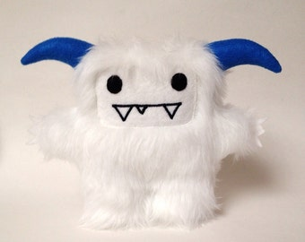 Frostie the abominable snowman yeti plush monster