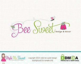 bee logo design bee hive logo design photography logo graphic design photographers logo premade logo design watermark logo branding logo