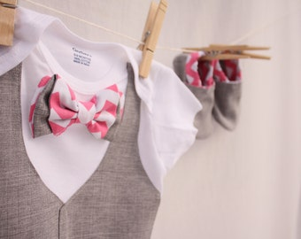 Baby boy Easter shirt, Easter bow tie shirt, Baby boy photo prop, Blue and gray baby boy shirt