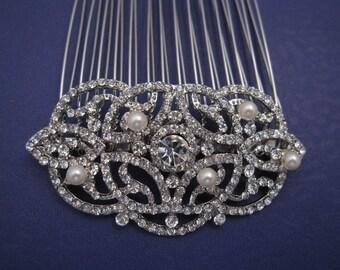 Vintage Inspired Pearls bridal hair comb wedding comb bridal hair accessory wedding hair comb bridal hair jewelry wedding accessory bridal