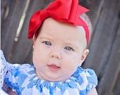 Baby Headband, XXL Bowtie grosgrain Boutique Baby Headband Bow, ANY COLOR,  Baby Bow Headband, Boutique Headband
