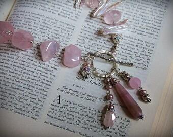 LINNEA Rose Quartz Pearl Necklace