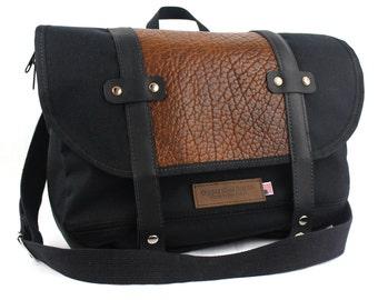 Buffalo Leather Classic Messenger Bag