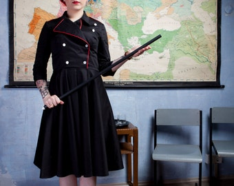 Black military dress By TiCCi