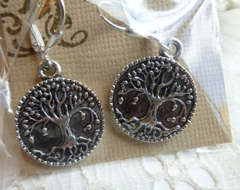 1- Silver Tree of Life Earrings   17mm