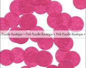 "Fuchsia PINK TISSUE Paper CONFETTI -- choose from: 1/2"" 3/4"" and 1"" Circles, Hearts, Butterfly, Daisy Flowers -- pif.pay it forward.aok"