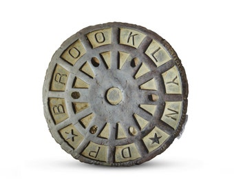 Brooklyn Sewer Cover Printed Pillow