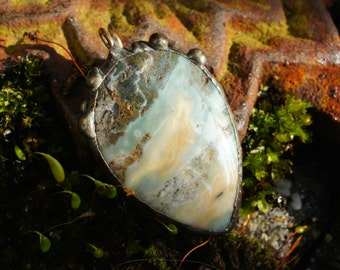 Dotted Ocean Jasper Pendant - Mined in the Gnoom Forest