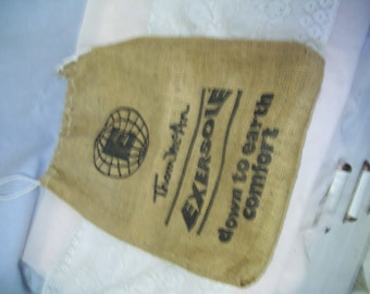 Vintage Advertising Burlap Bag, Thom McAn, Eversole Shoes, Kitsch