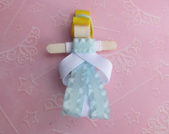 """Beautiful Cinderella"""" Princess Hair Clip-- Inspired by Disney-- Birthdays and Baby Showers"""