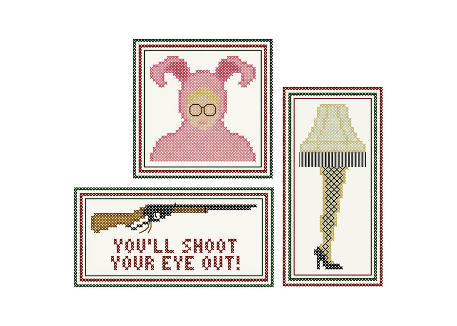 A christmas story ornament set - This Is A Digital File
