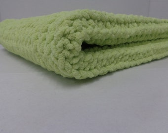 Knitted Baby Blanket  - Lemon Lime