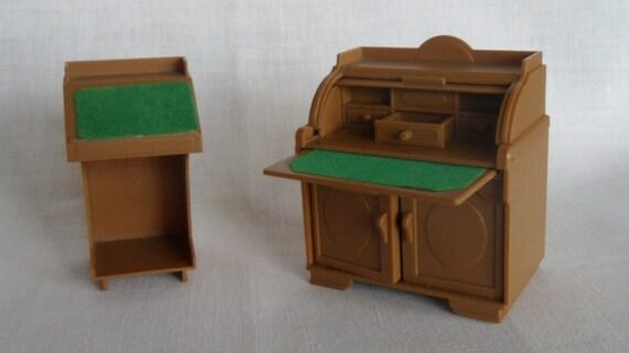 Vintage West German Plastic Doll House Furniture 60s By Soemme