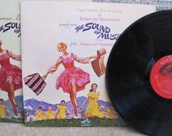 "Vintage ""Sound of Music"" Musical Vinyl Record Album with Booklet - 1965 - Soundtrack - Movie Soundtrack - Julie Andrews"