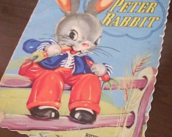 """Vintage 50's """"Peter Rabbit"""" Children's Story Book - Ruth E. Newton's Chubby Cubs - 1958 - Stories - Antique - Easter - Bunny"""