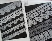 Vintage Crochet Tablecloth  Placemats Bedspreads Doilies and Luncheon sets Pattern Book Black and White
