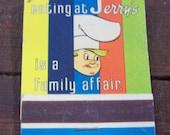 Jerry's Family Restaurant Matchbook