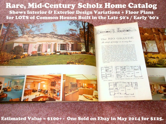 Rare 1962 scholz homes catalog lots of photos floor plans for Scholz home plans