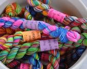 Clown Barf & Unicorn Farts - Minis Mega Pack - Set of 18 Sock Yarn Mini Skeins