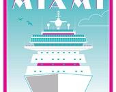Cruise Miami - Limited edition print