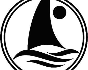 Gone Sailing Vinyl decal T54