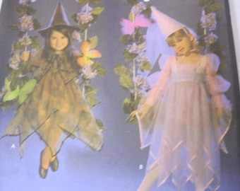 Princess or Witch Dress With Hats Simplicity Pattern 4938 Costumes Kids Daisy Kingdom Like New Uncut Childs Size a (3,4,5,6,7,8) Fun Sewing
