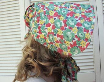 Vintage Handmade Cotton Antique Style Bonnet Pilgrim Costume Victorian Style Bonnet Victorian Costume 127 450
