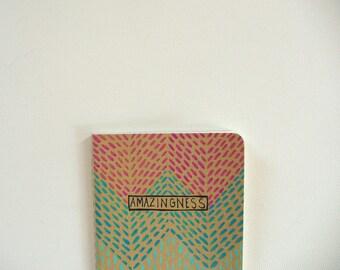 valentines day gift, moleskine notebook - amazingness,  journal, pocket notebook, illustrated notebook, moleskin journal. small notebook