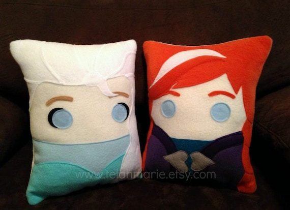 Frozen pillow, Anna and Elsa, frozen, pillow, plush, cushion