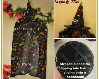 Boo! Witches Hat and Cape!
