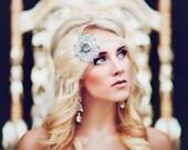 Silver Beaded Headpiece, 1920s Headband, Flapper Headdress, Art Deco Bridal Hair Piece, 1920s Wedding Headpiece