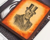 Kindle Leather Cover - Steampunk Skull - Customizable - Free Personalization