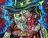 "8x11"" PRINT of the 4th Doctor, Tom Baker Zombie Portrait"