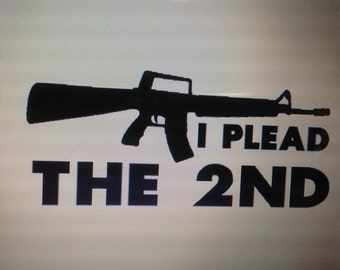 I plead the 2nd Vinyl decal
